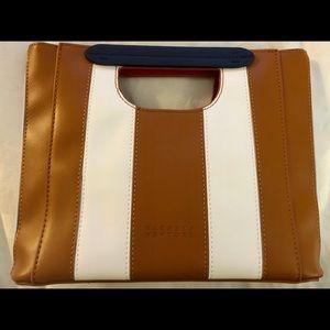 Barneys New York Brown/Navy/ White Shoulder Bag